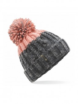 Be Famous Cable Contrast Knit Beanie B1903