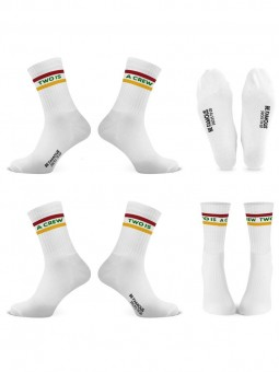 Be Famous x Socks to go  Statement  Socken TWO IS A CREW
