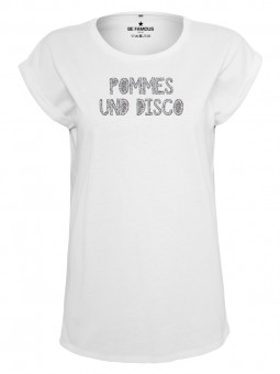 Be Famous Women Rolled T-Shirt PODICO