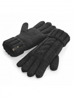 Be Famous Cable Knit Gloves G1901 black