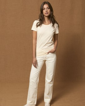 Iconic Damen anliegendes T-Shirt  Natural Raw | M