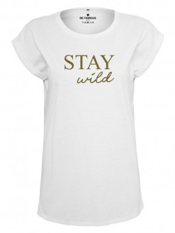 Be Famous Women Rolled T-Shirt, Staywild