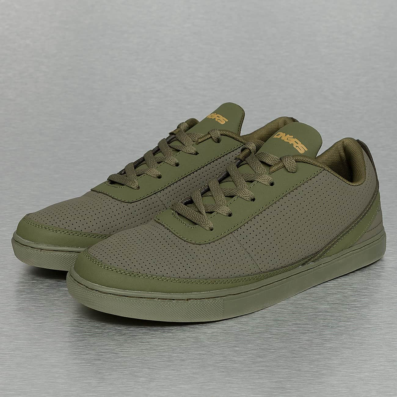 streetwear fashion online shop dangerous dngrs perforated sneakers olive auf rechnung. Black Bedroom Furniture Sets. Home Design Ideas