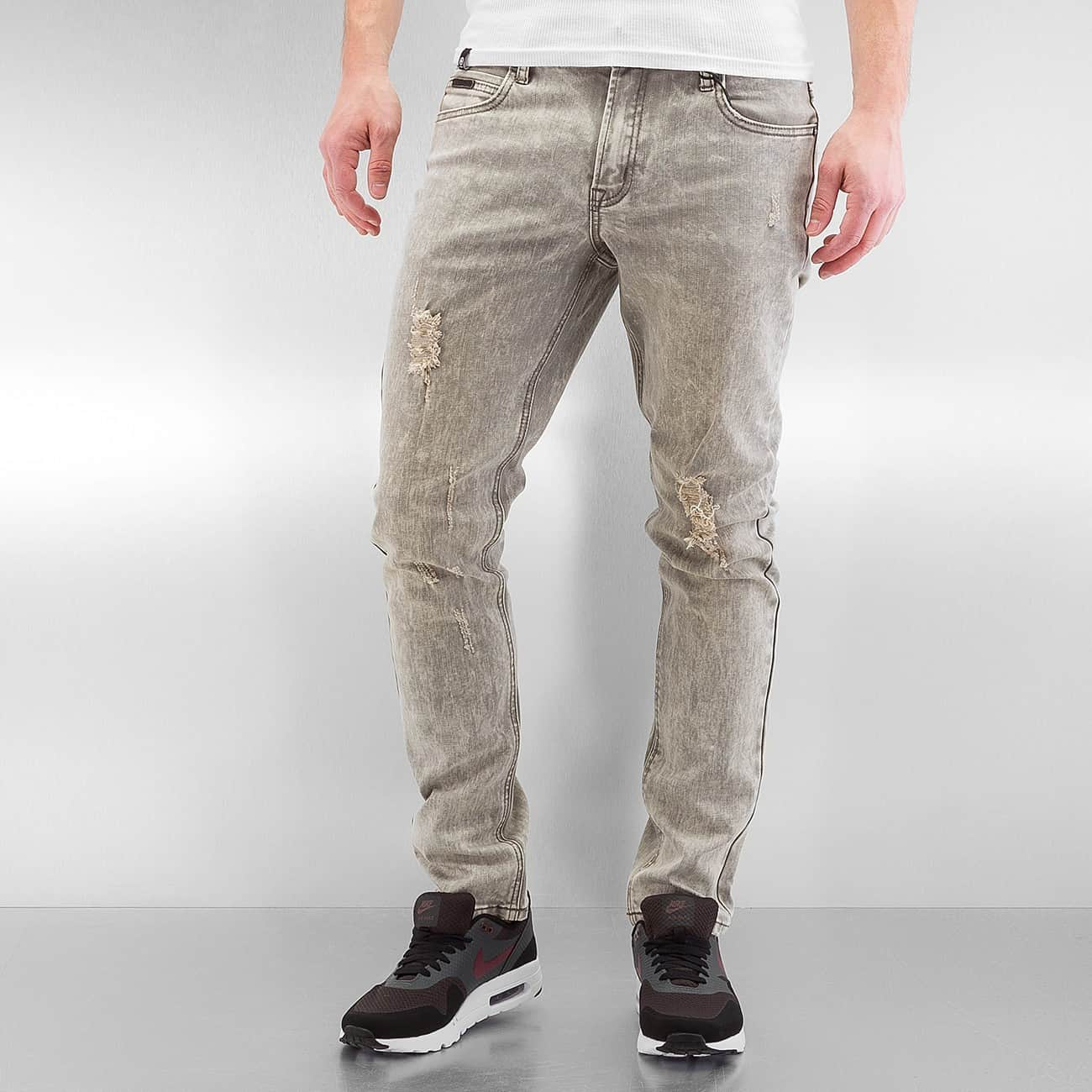 streetwear fashion online shop rocawear m nner skinny jeans wash in grau auf rechnung. Black Bedroom Furniture Sets. Home Design Ideas