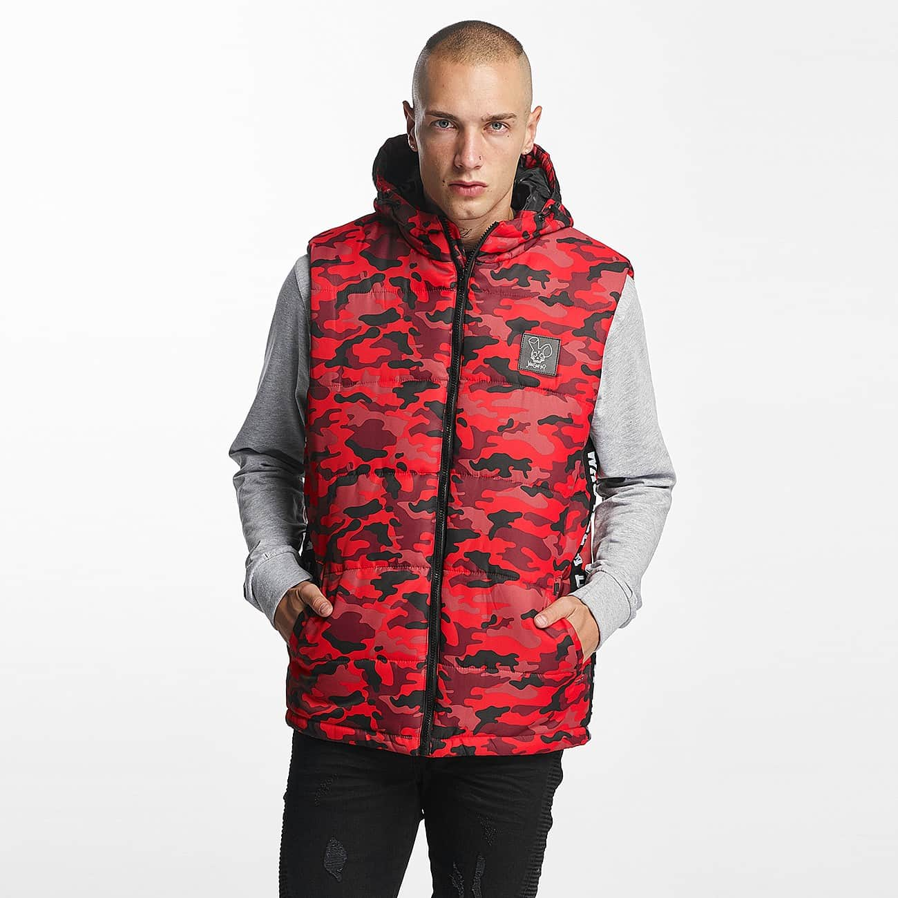 streetwear fashion online shop who shot ya m nner weste bigwho quilted in rot auf. Black Bedroom Furniture Sets. Home Design Ideas