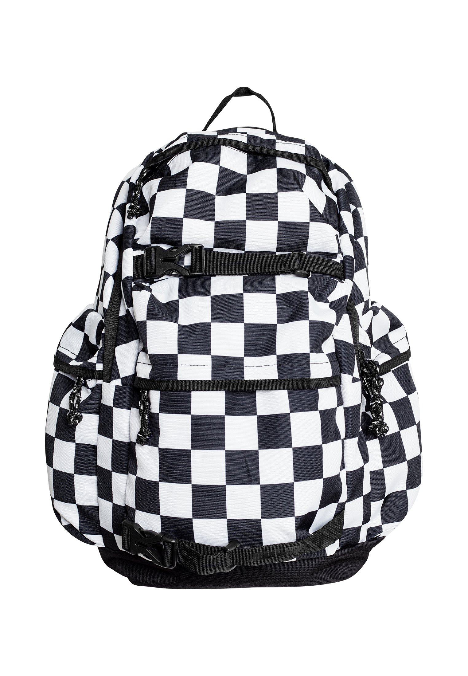 streetwear fashion online shop urban classics backpack checker black white auf rechnung. Black Bedroom Furniture Sets. Home Design Ideas