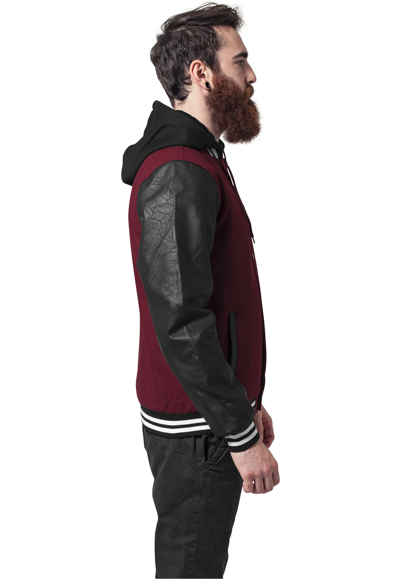 streetwear fashion online shop urban classics hooded oldschool college jacket auf rechnung. Black Bedroom Furniture Sets. Home Design Ideas